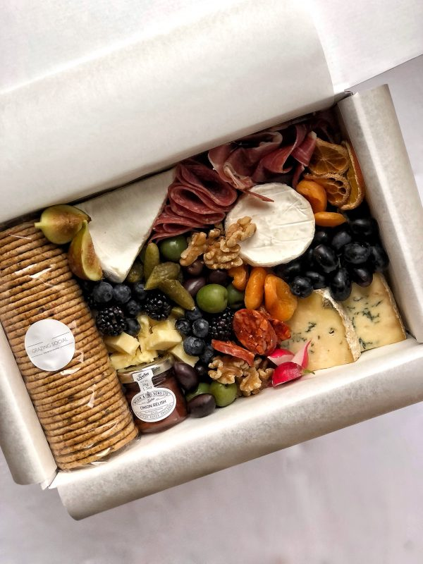 Grazing cheese box food hamper grazing tables and platters cheeseboard